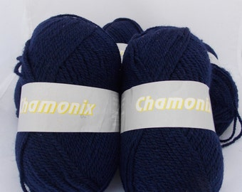 Blue yarn, navy yarn, wool yarn, knitting yarn, crochet yarn, yarn lot, cheap yarn, light yarn, DK yarn, light worsted yarn, Chamonix