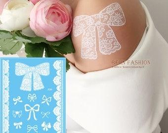 White knots ephemeral tattoo Board