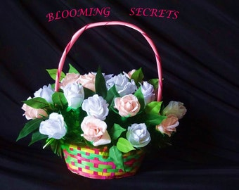 Sweet Roses in a Basket