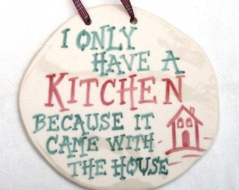 Kitchen Wall Plaque Ceramic Pottery