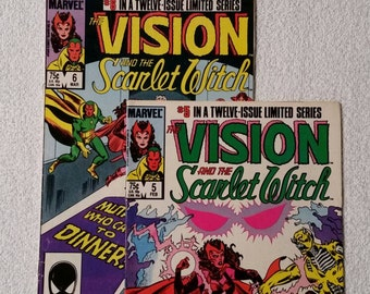 Vision and the Scarlet Witch #5-6 (of 12, 1986)