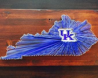 University of Kentucky Wildcats String Art, Kentucky String Art