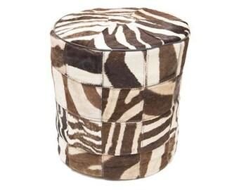 Zebra Pouffe Handmade South Africa