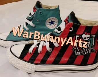 Monster High Shoes - Hand Painted Custom Converse Sneakers