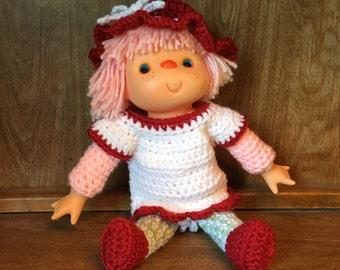 Cherry Cupcake Crochet Doll