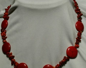 Crimson Beaded Necklace #71