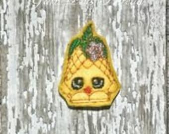 Pineapple Feltie Embroidery Design