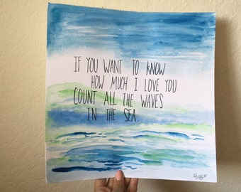 Quote in the waves