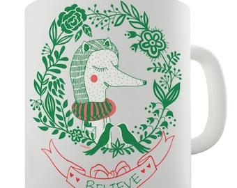 Believe Fox Ceramic Novelty Gift Mug
