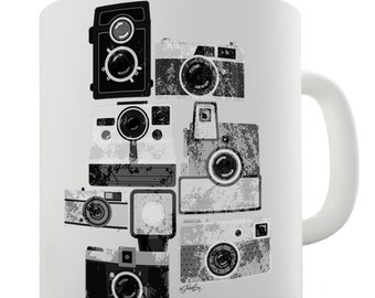 Vintage Cameras Ceramic Tea Mug