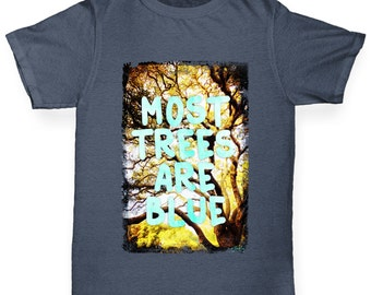 Boy's Most Trees Are Blue T-Shirt