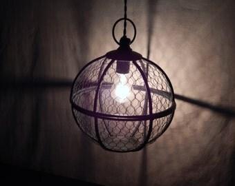 Chicken Wire Cage Pendant