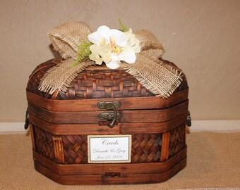 Wedding Card Box / Rustic Memory Box / Rustic Wedding Card Box / Rustic Wedding Decor