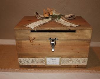 Wedding Card Box With Lock Etsy