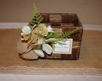 Rustic Wedding  Wishes Box /Rustic Wedding Box / Wedding Wishes Box
