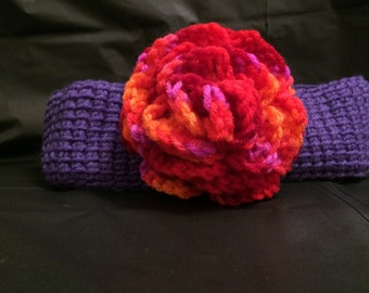 Headband with rose