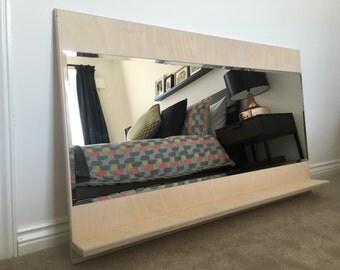 Birch Plywood Mirror and Shelf