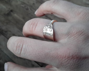 Silver Ring made of old tea spoon