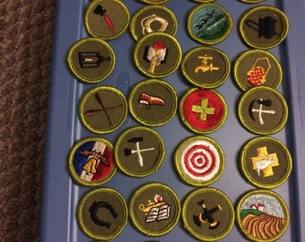 Vintage merit badge patches from the '50's and 60's.