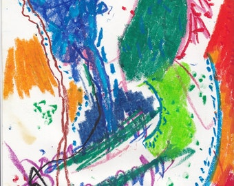 Keep It; Oil Pastel on Paper