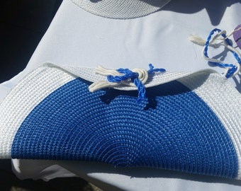 Blue sailor knot bag