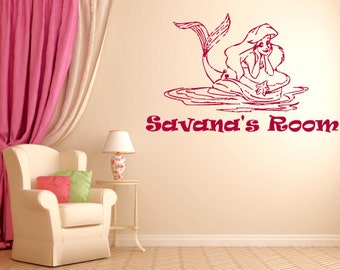 Personalized Little Mermaid Wall Decal