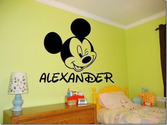 Etsy Personalized Wall Decor : Personalized mickey mouse wall decal by iheartvinylkf on etsy