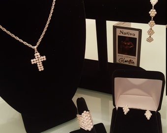 Filigree Handmade 4 pc  set from Mompox Colombia !!! 30% DISCOUNT ALL ITEMS!!