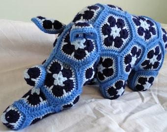 Handmade Crochet Rhino