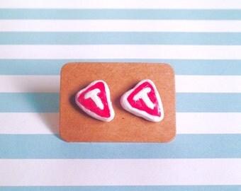 T-bone steak inspired earrings!