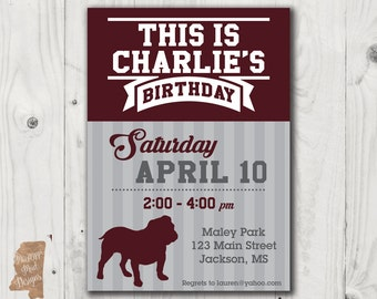 Birthday Invitation - Mississippi State