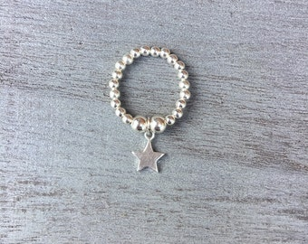 Simmi Sterling Silver Star Charm Ring