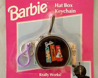 Vintage Barbie Hat Box Keychain NOS
