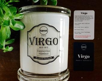 Virgo - Zodiac Candle - Cappuccino Hazelnut