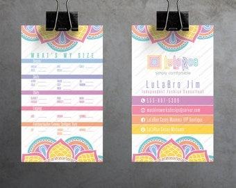 Custom LuLaRoe Business Cards • Double-Sided Customizable Business Card • Printable • VERTICAL Layout • Mandala Design