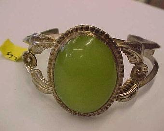 "Ross jade .925 sterling silver bracelet 6-1/4"" *nice*"