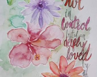 God is in Control - 9x12 Prints