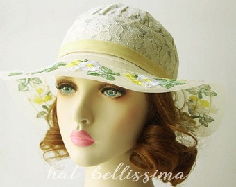 1920's Style   hat Vintage Style hat hatbellissima