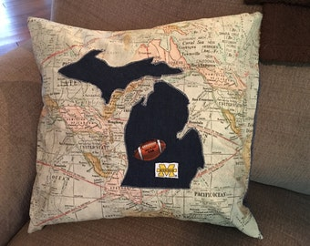 No place in the world I'd rather be...Michigan Football pillow
