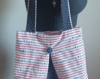 God Bless America Tote Bag // Purse // Carry All