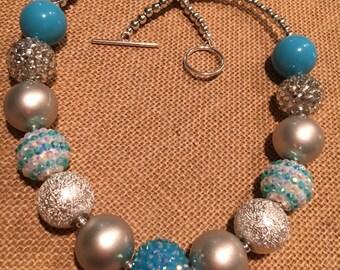 Elsa Inspired - Frozen Bubblegum Necklace