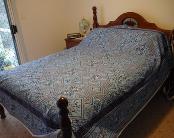 blue ( border) one fabric quilt