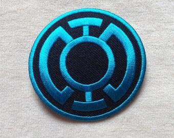 Blue Lantern Super Hero Logo Iron On Patch