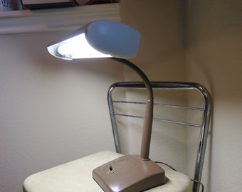 Vintage Gooseneck Desk Lamp Flex Arm Industrial Flourescent