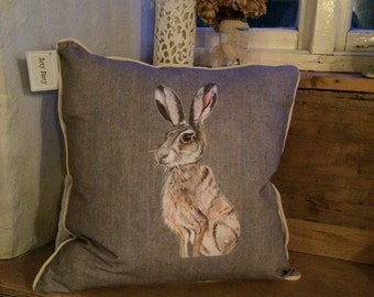 Beautiful hare cushion