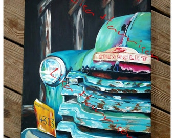 52 Chevy Truck Print of Painting