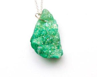 Green Druzy Pendant