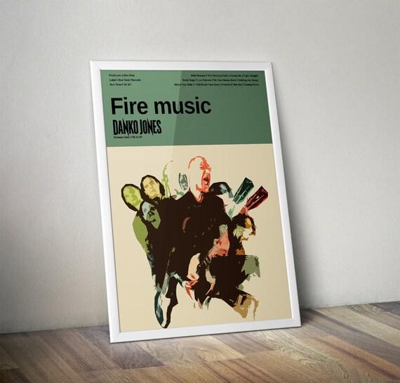 Danko Jones Fire Music Custom Band Posters By Jackofallposters