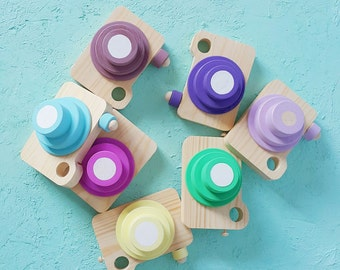 Wooden toy camera for kids - pretend play - like mother like daughter - photoshoot ideas