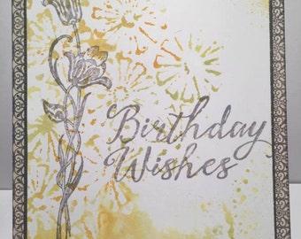 Birthday Wishes//Handmade Card
